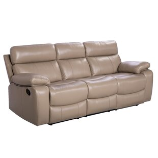 Mellor Leather Reclining Sofa by Red Barrel Studio #1