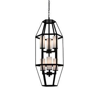 Cell 6-Light Geometric Chandelier by CWI Lighting
