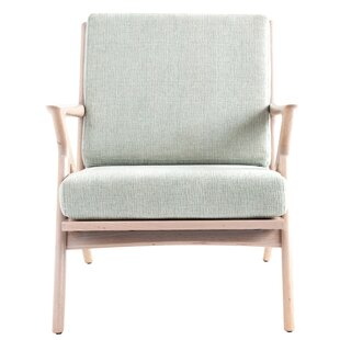 Joaquin Oak Wood Armchair by Rosecliff Heights
