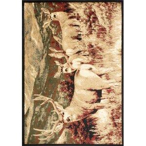 Adak Meadown Deer Brown/Ivory Area Rug