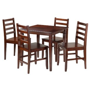 Hemphill 5 Piece Dining Set Red Barrel Studio