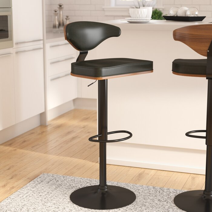 Amazing Atropos Adjustable Height Swivel Bar Stool Frankydiablos Diy Chair Ideas Frankydiabloscom