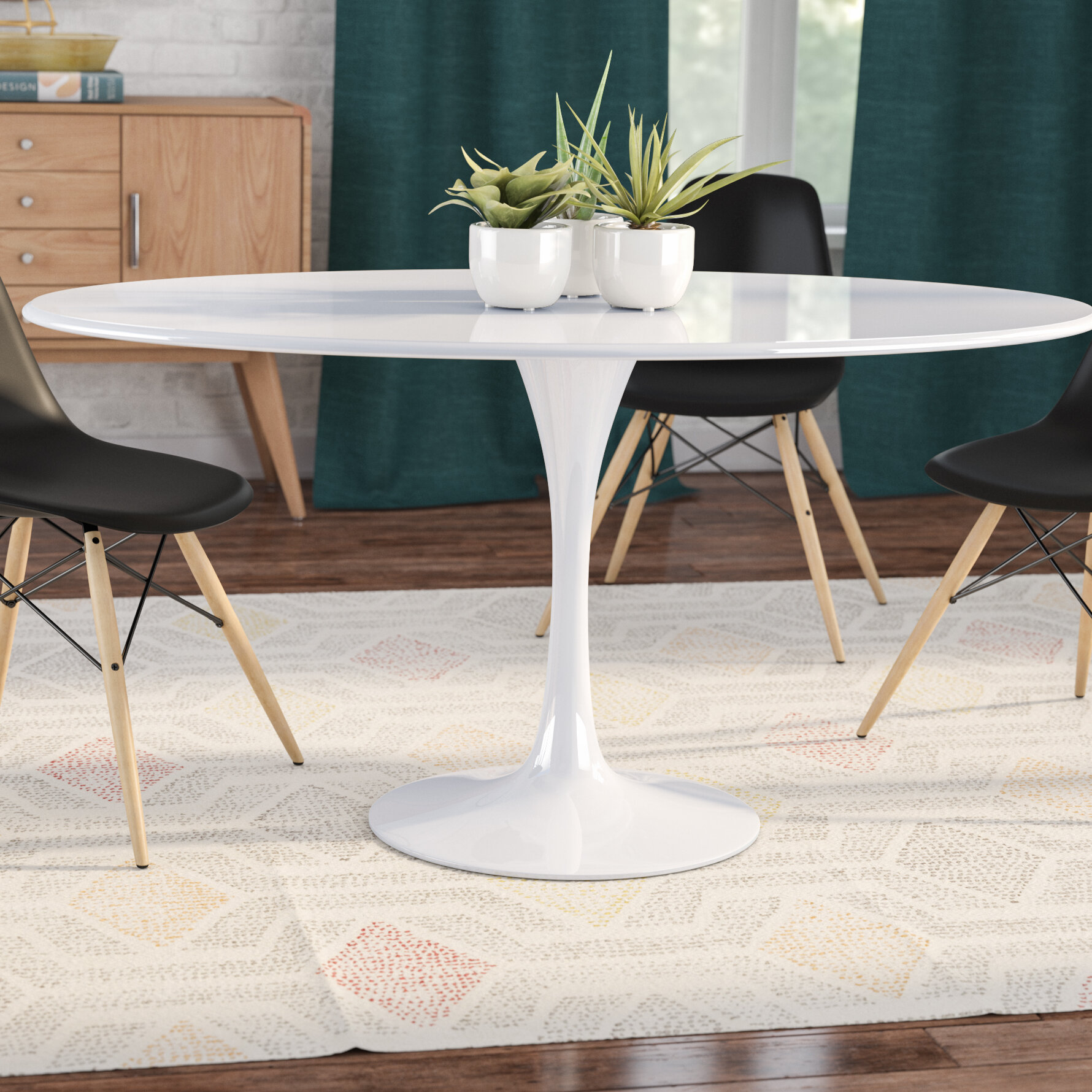 Langley street julien oval dining table reviews wayfair