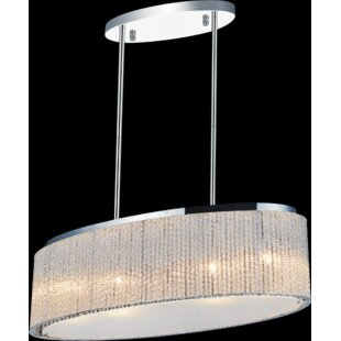 Compare prices 5-Light  LED  Chandelier By CWI Lighting