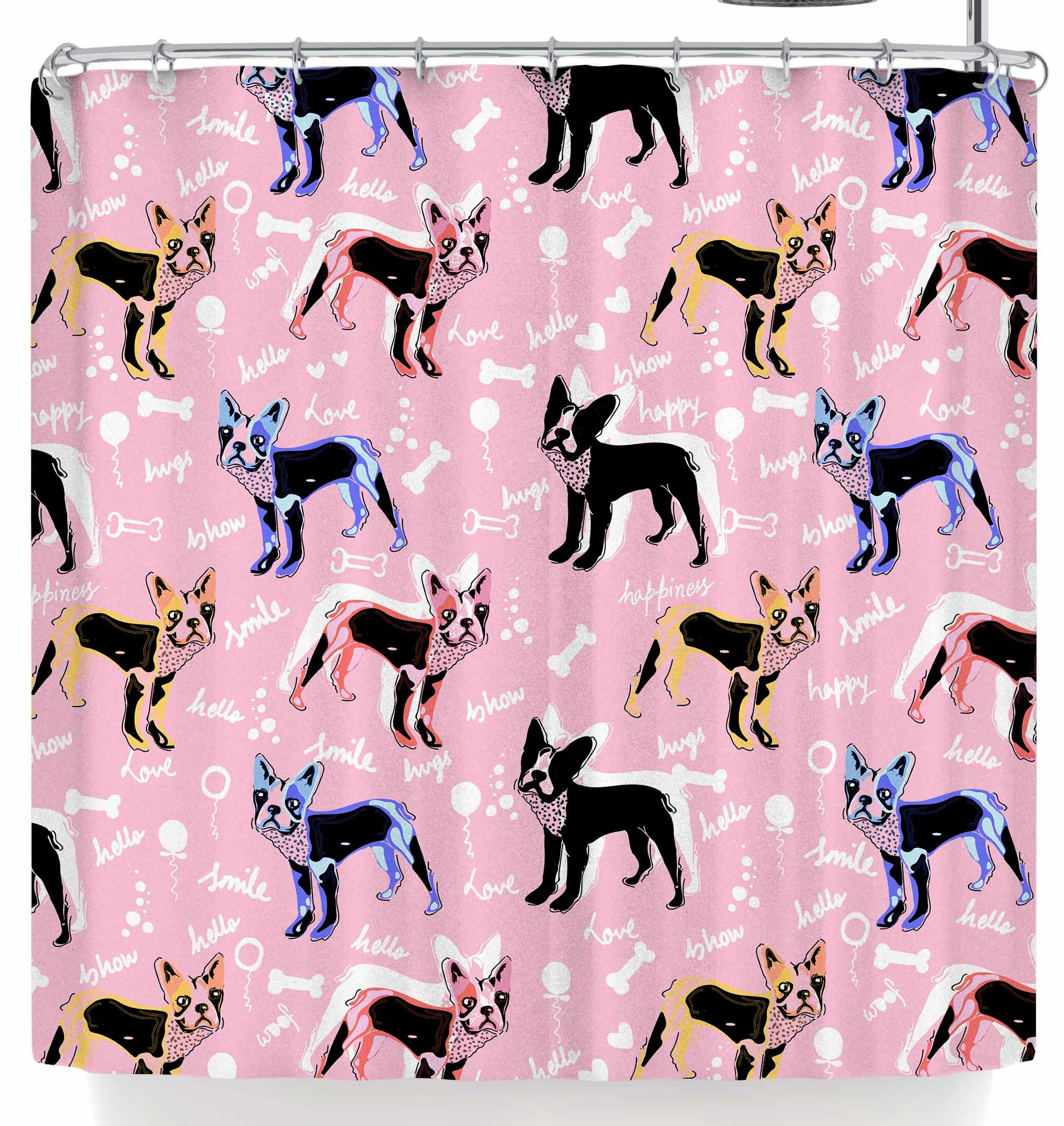 East Urban Home Mukta Lata Barua French Bulldogs Shower Curtain
