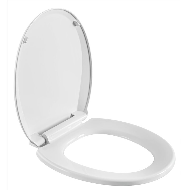 Winfield Products Heavy Duty Plastic Slow Close Round Toilet Seat Wayfair