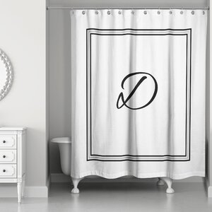 Ashbrook Classic Monogrammed Shower Curtain