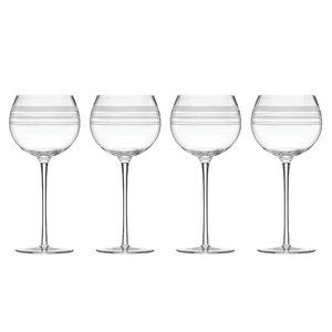 Library Stripe 16 oz. Balloons Wine Glass (Set of 4)