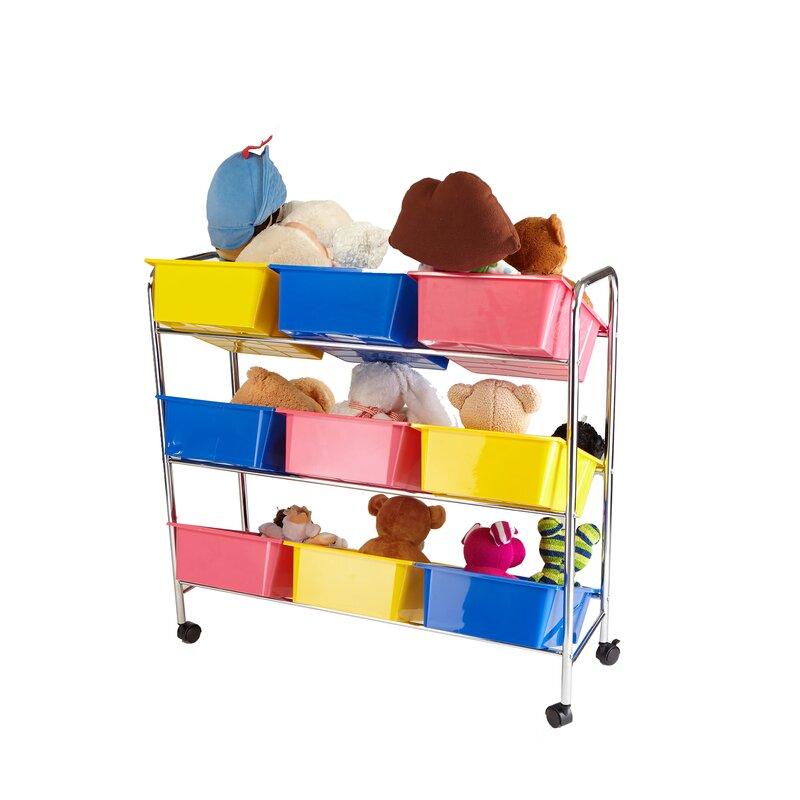 9 Drawer Rolling Toy Organizer