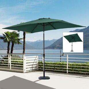 Charlton Home Jayson 6.5' x 10' Rectangle Market Umbrella