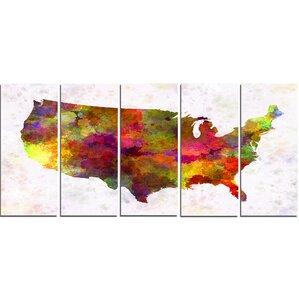 World Map Wall Art - Us map wall art