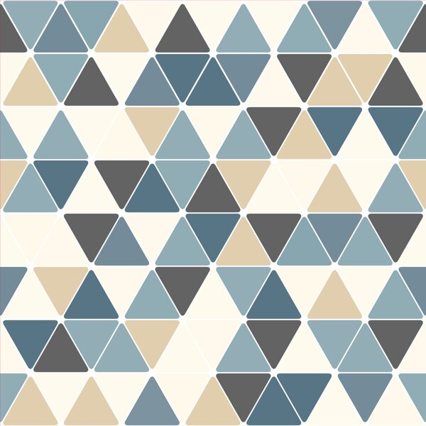 Triangles 4 L X 24 Quot W Peel And Stick Wallpaper Tile