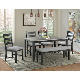 Mavis 6 Piece Solid Wood Dining Set