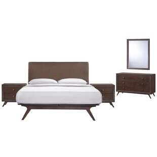 Modesto Queen Platform 5 Piece Bedroom Set