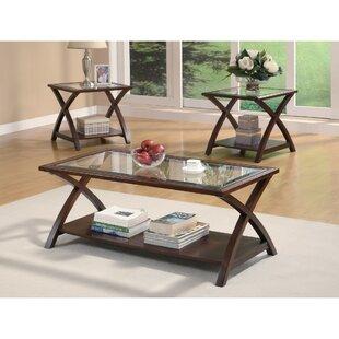 Latitude Run Morariu Appealing 3 Piece Coffee Table Set