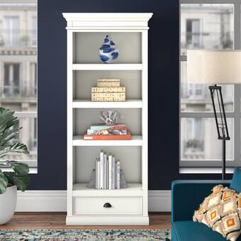 Joss Main Vioria 79 5 H X 34 W Solid Wood Standard Bookcase Reviews Wayfair