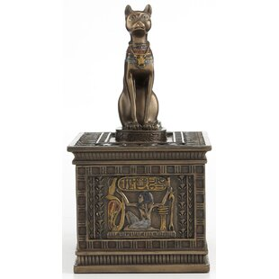 Egyptian God Bastet Trinket Jewelry Box By Bloomsbury Market