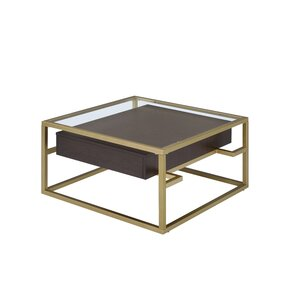 Danyel Glass Coffee Table by Everly Quinn