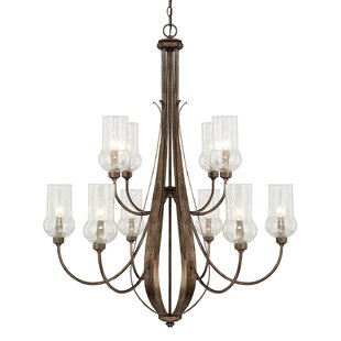 Astoria Grand Lea 10-Light Shaded Chandelier