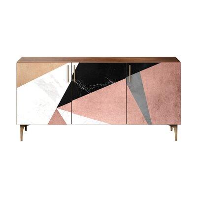 Brayden Studio Lovett Sideboard Color (Base/Top): Brass/Walnut