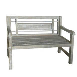 Mark Weathered Wood Bench by One Allium Way