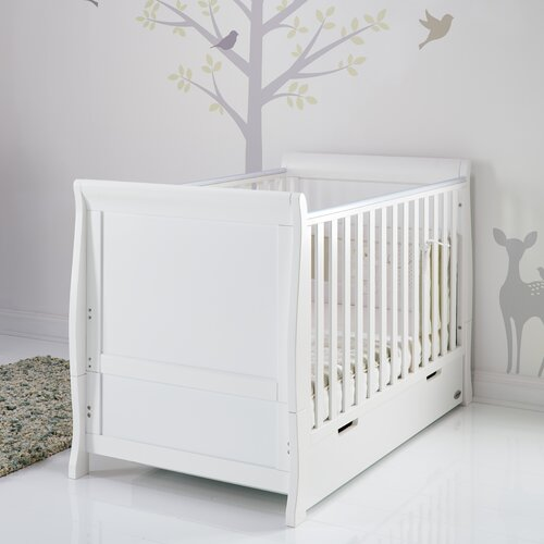 Stamford Classic Cot Bed with Cot Top Changer and Drawer Obaby