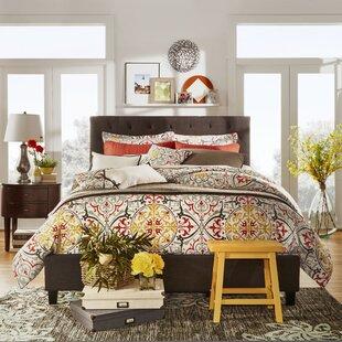 Three Posts Tripoli Upholstered Wood Frame Platform Bed