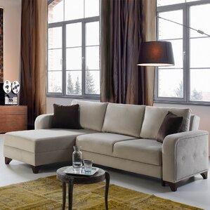 Perla Reversible Sleeper Sectional by Perla Furniture