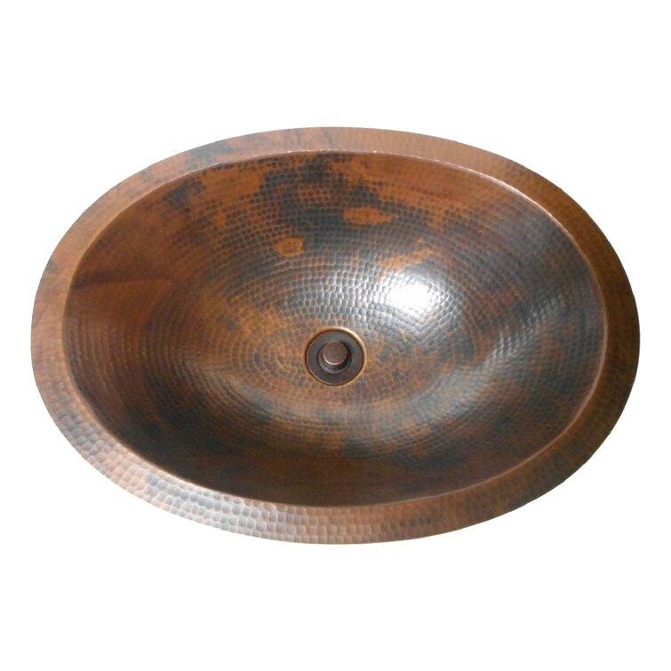 Simplycopper Rio Grande Copper Handmade Oval Undermount Bathroom Sink Wayfair
