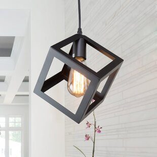 1-Light Square/Rectangle Pendant by LNC Home