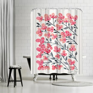 Cherry Blossoms Single Shower Curtain