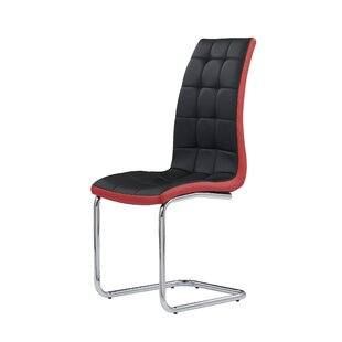 Cena Black/Red Side Chair