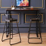 Muskego Swivel Bar & Counter Stool (Set of 2) by 17 Stories