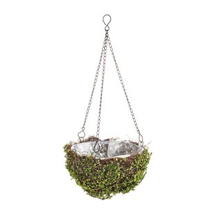 Evergreen Rattan Hanging Basket (Set Of 2) By Freeport Park