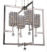 Rosdorf Park Mcdowell Glam 4-Light Square/Rectangle Chandelier