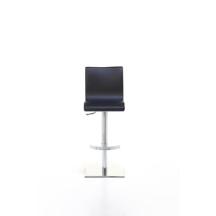 Newmarket Adjustable Height Swivel Bar Stool by Orren Ellis Savings