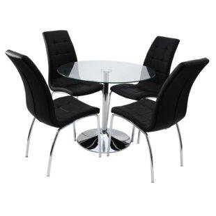 Sherlock Dining Set With 4 Chairs By Metro Lane