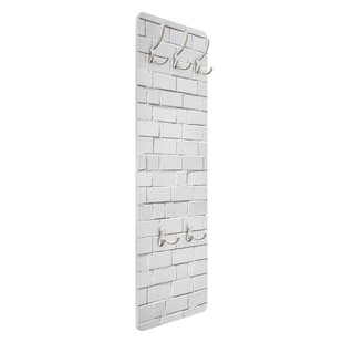 White Stonewall Wall Mounted Coat Rack By Symple Stuff