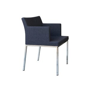 B&T Design Soho Metal Base Wool Guest Chair