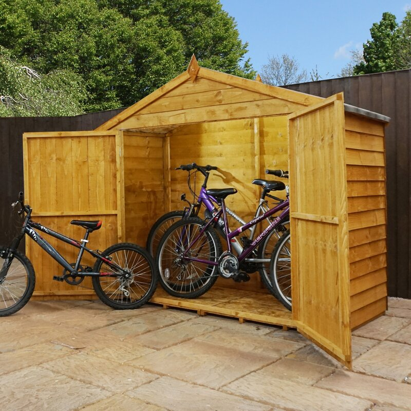 Mercia Garden Products X Wooden Overlap Apex Bike Shed