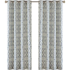 Manda Damask Max Blackout Grommet Single Curtain Panel