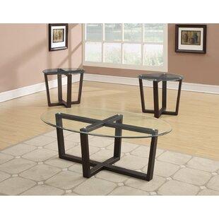 Red Barrel Studio Allegany 3 Piece Coffee Table Set