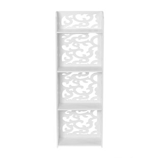 Bottoms 4-Tier Modular Cut-Out Wood Plastic Composite Standard Bookcase