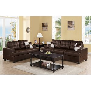Leather Living Room Sets You\'ll Love   Wayfair