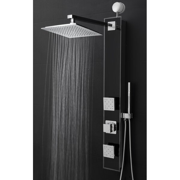 Temperature Control Tower Shower Panel System Diverter U0026 Reviews Wayfair