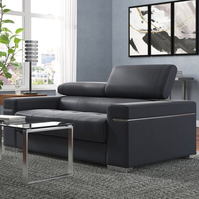 Blue Amp Grey Leather Sofas You Ll Love In 2019 Wayfair