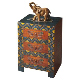 Enkhuizen 3 Drawer Accent Chest by World Menagerie