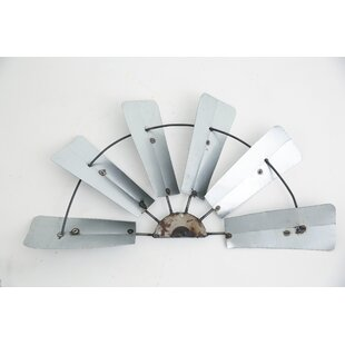 Galvanized Half Windmill Wall D?cor by Trent Austin Design