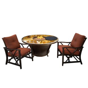 Paxtonville 3 Piece Conversation Set With Cushions by Darby Home Co Best Choices
