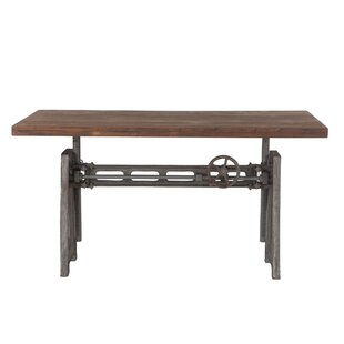 Christenson Reclaimed Adjustable Teak Wood Standing Desk